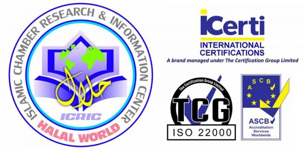 Proud to announce that we are now Iso 22000 : 2005 & Halal certified